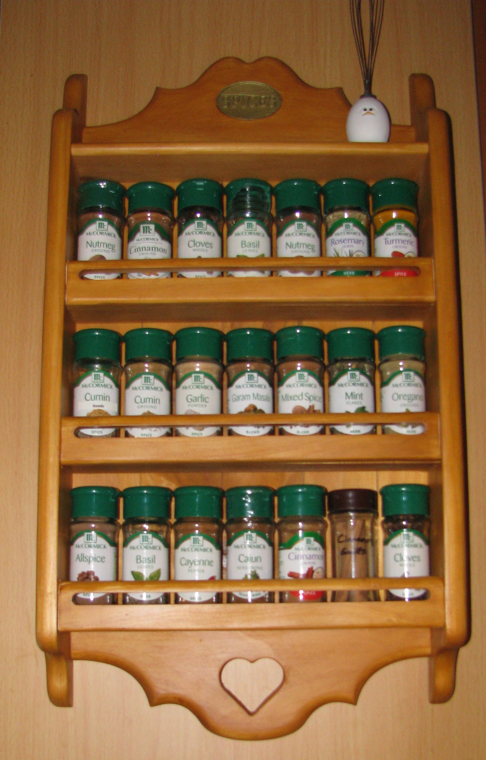 Spice Rack Plans (Woodworking) | Busy Ducks